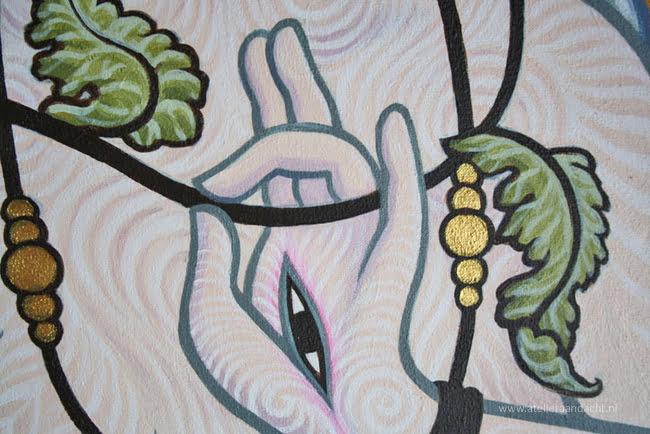 Detail van 'Witte Tara', de godin van Compassie