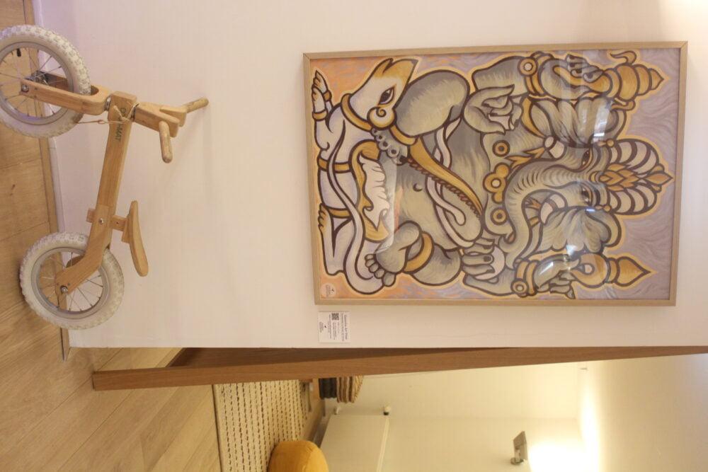 Een ingelijste Ganesha Art Print