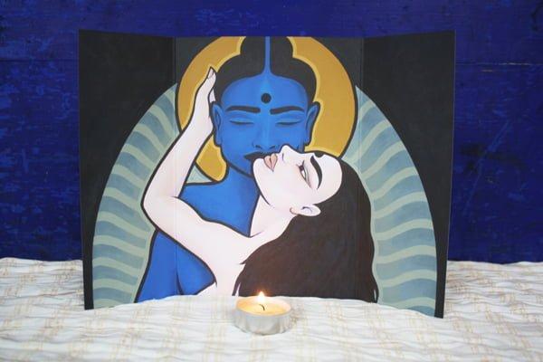 Huisaltaar van Shakti & Shiva