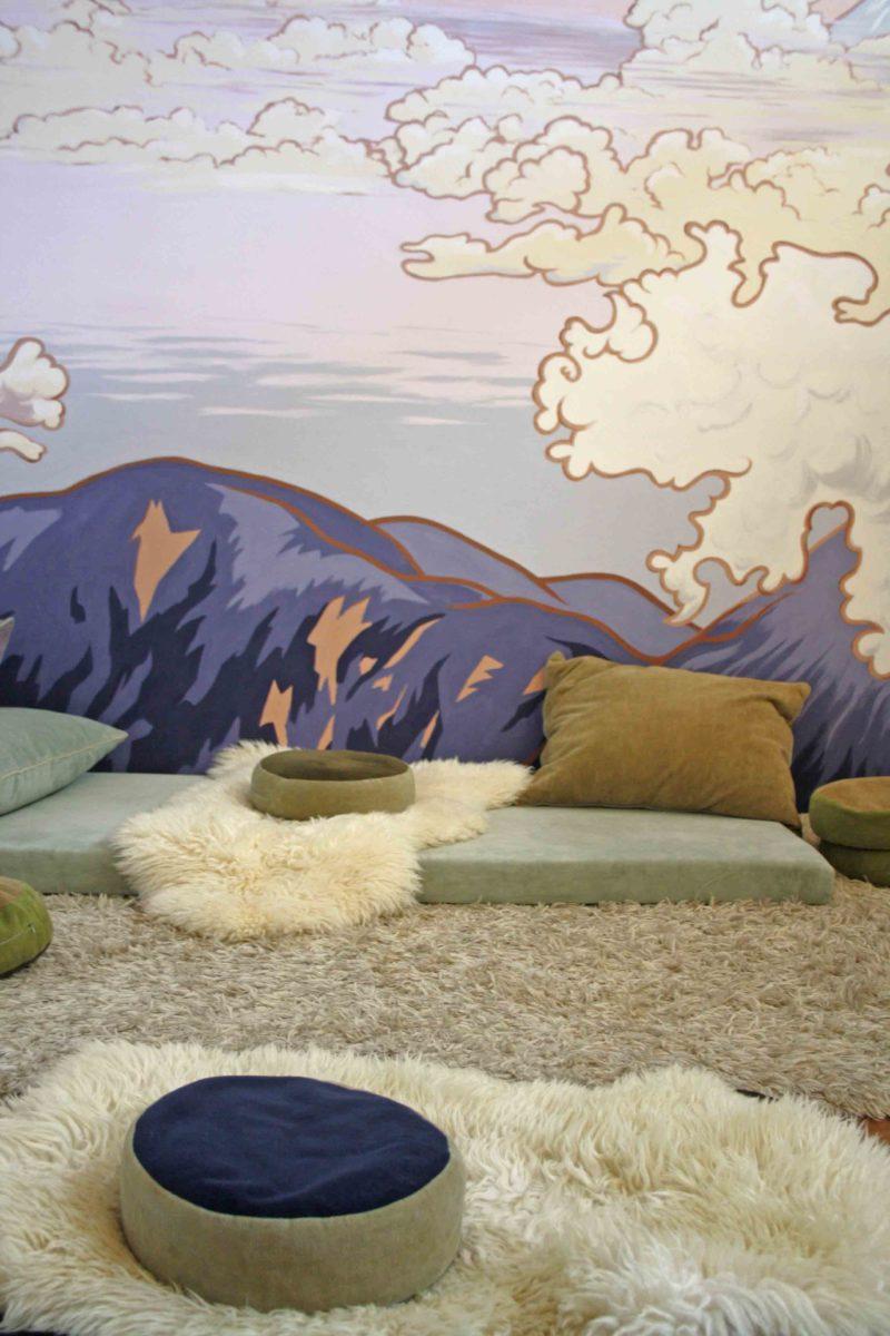 muurschildering Atelier Aandacht meditatieruimte