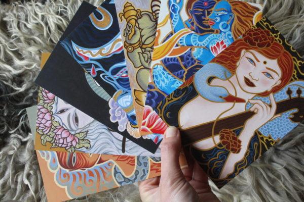Atelier Aandacht Art Cards goden en godinnen kunst
